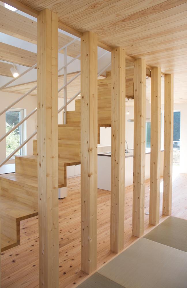 板張り内装の注文住宅Simple Box09