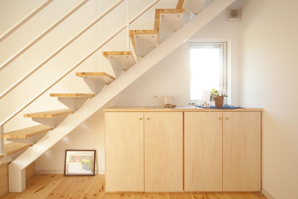 二階リビングの家04