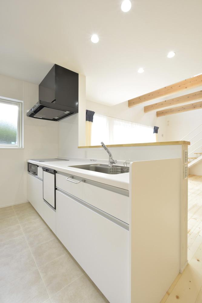 青と白の四角いお家、注文住宅Simple Box09