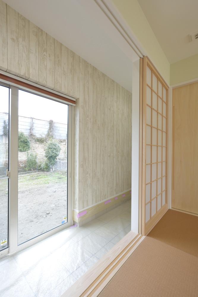 青と白の四角いお家、注文住宅Simple Box05