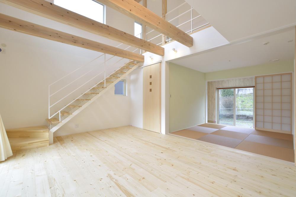 青と白の四角いお家、注文住宅Simple Box03