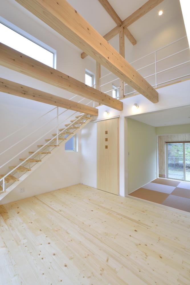 青と白の四角いお家、注文住宅Simple Box06
