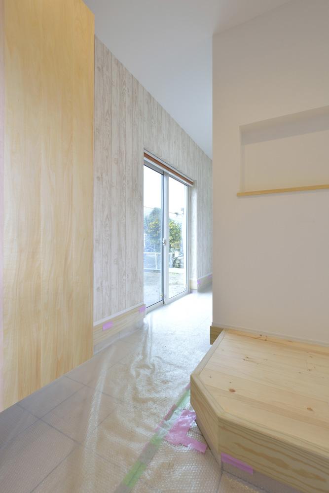 青と白の四角いお家、注文住宅Simple Box11