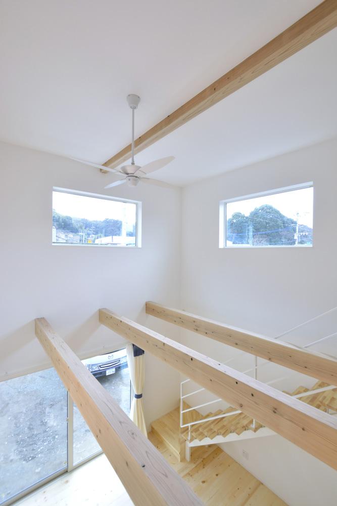 青と白の四角いお家、注文住宅Simple Box16