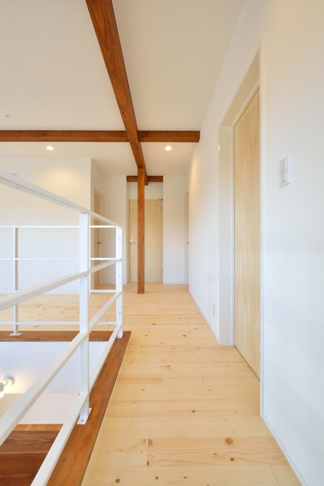 大きな吹き抜けと大きなフリースペースがある注文住宅Simple Box10