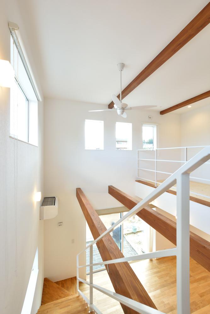 大きな吹き抜けと大きなフリースペースがある注文住宅Simple Box09