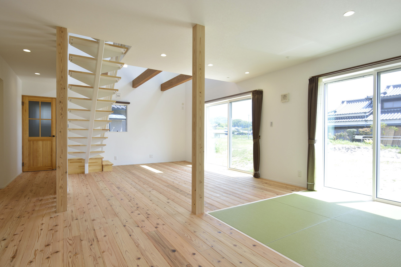 生活動線やフラットな和空間のある注文住宅Simple Box + Box03
