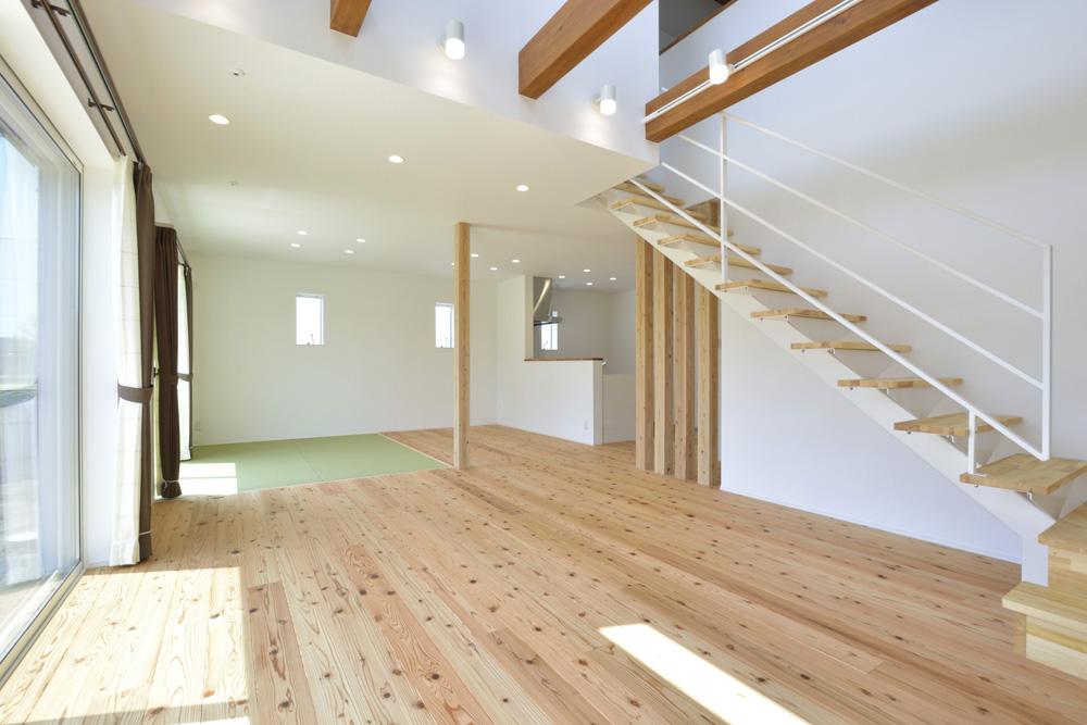 生活動線やフラットな和空間のある注文住宅Simple Box + Box04