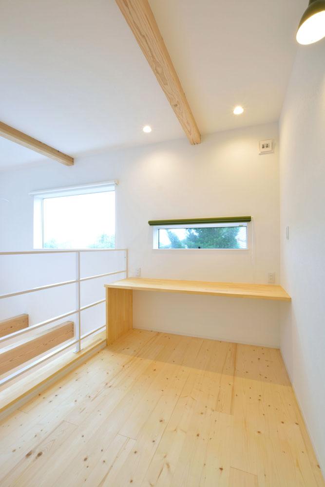白と青の注文住宅 Simple Box+Box13