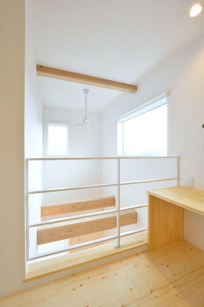 白と青の注文住宅 Simple Box+Box14
