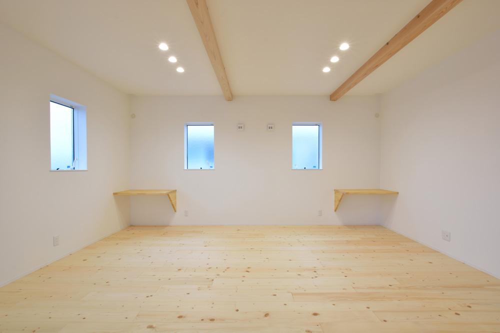 ホワイト+ブラウンの四角いお家、注文住宅Simple Box + Box(シンプルボックス+ボックス)14