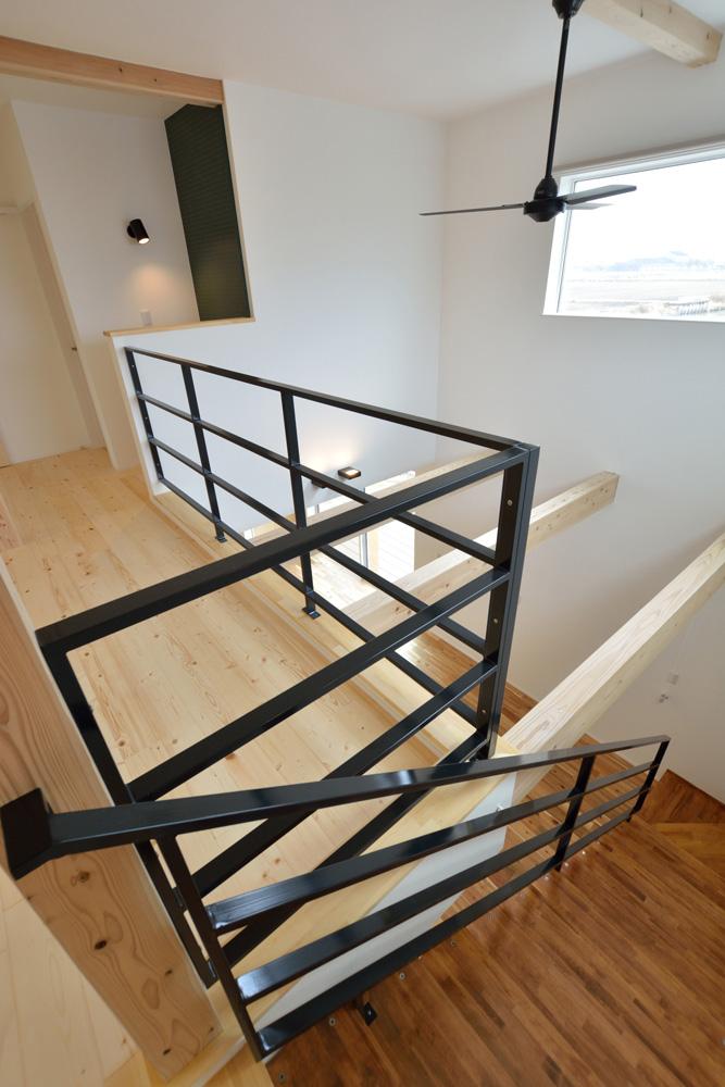 ホワイト+ブラウンの四角いお家、注文住宅Simple Box + Box(シンプルボックス+ボックス)16