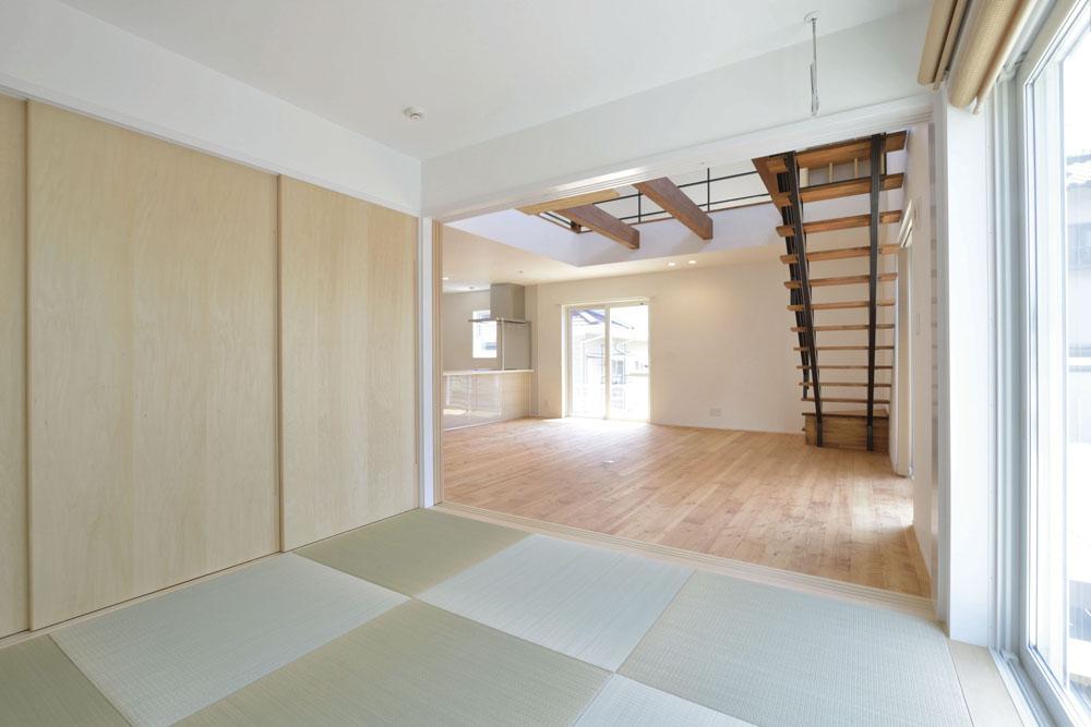 青いガルバの四角いお家、注文住宅Simple Box(シンプルボックス)09
