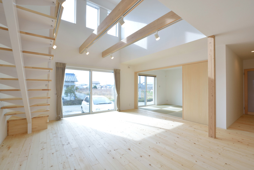 ネイビーと白のお家、注文住宅Simple Box+Box(シンプルボックス+ボックス)05