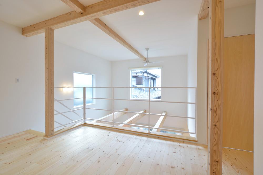 白いシンプルな四角いお家、注文住宅Simple Box+Box(シンプルボックス+ボックス)11