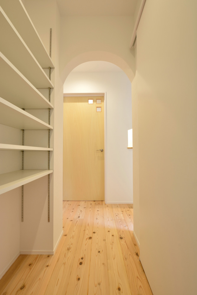 白いシンプルな四角いお家、注文住宅Simple Box+Box(シンプルボックス+ボックス)13