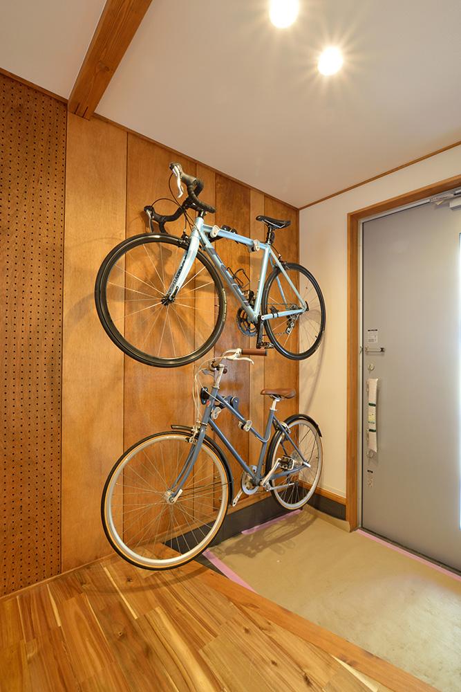 自転車の収納も出来る、暮らしも遊びも楽しくなる注文住宅 LOAFER(ローファー)13