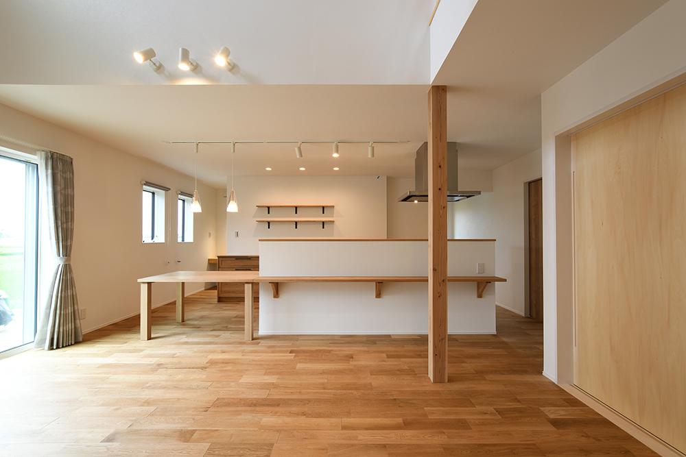 ガルバリウム+塗り壁の四角いお家、注文住宅Simple Box04