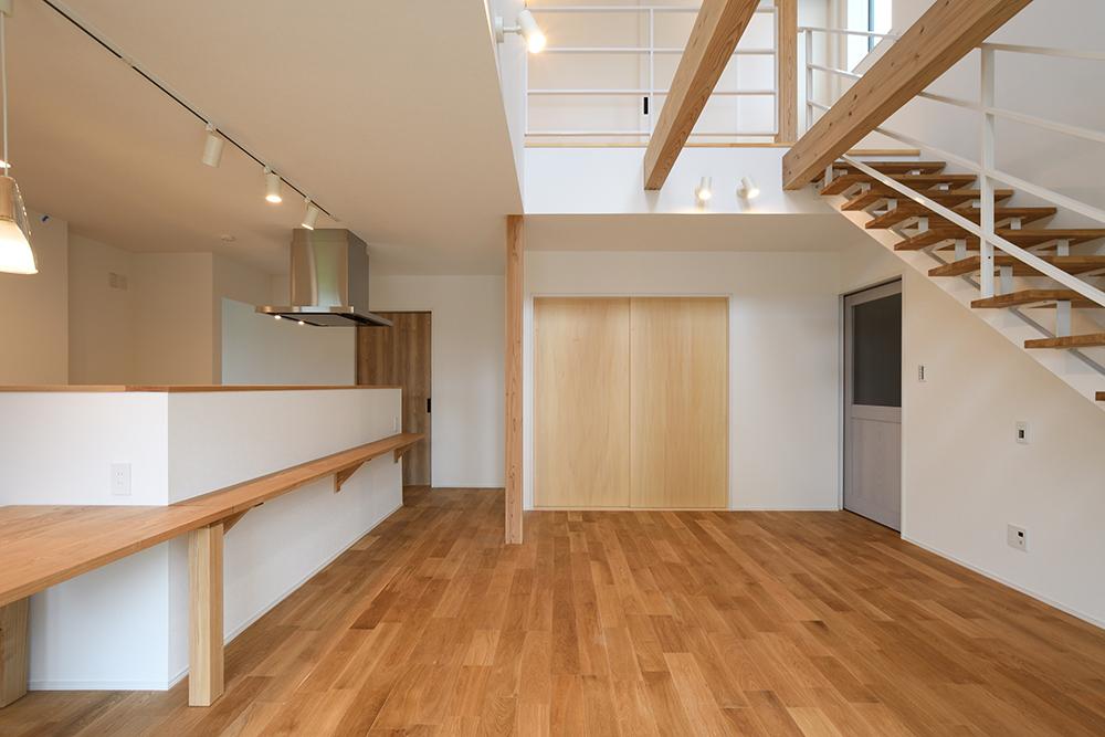 ガルバリウム+塗り壁の四角いお家、注文住宅Simple Box05