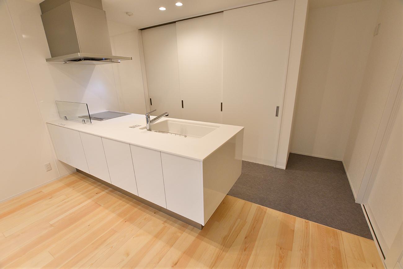 ダークグリーンのシンプルな四角いお家、注文住宅Simple Box15
