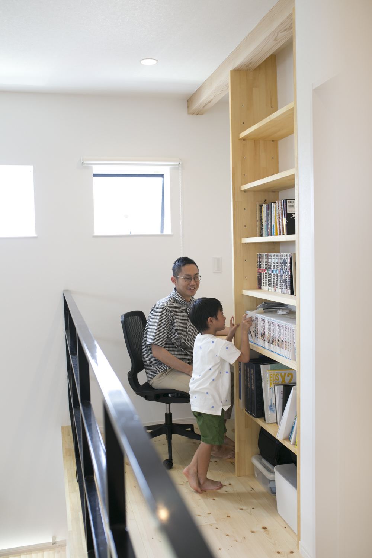 2階のフリースペースは書斎
