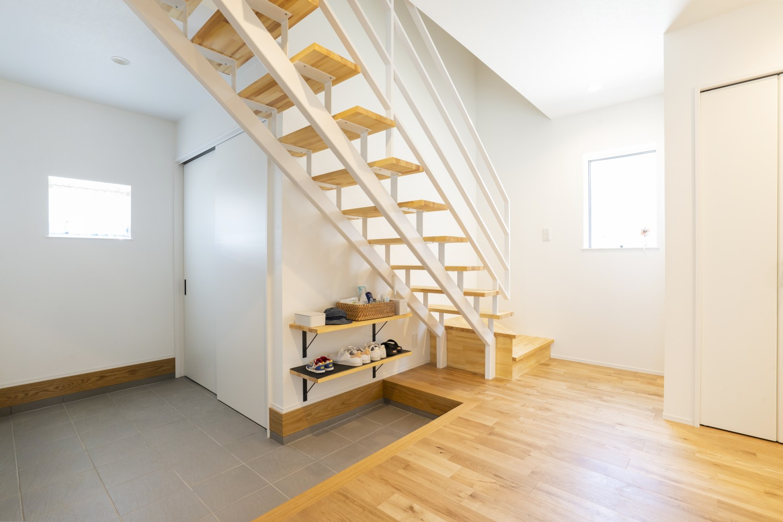 快適動線。回遊性のある四角いお家、注文住宅Simple Box10