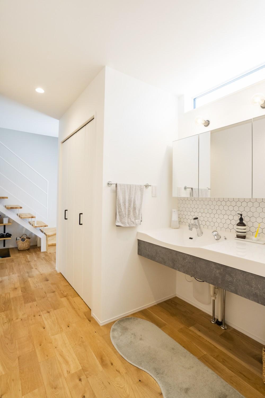 快適動線。回遊性のある四角いお家、注文住宅Simple Box06
