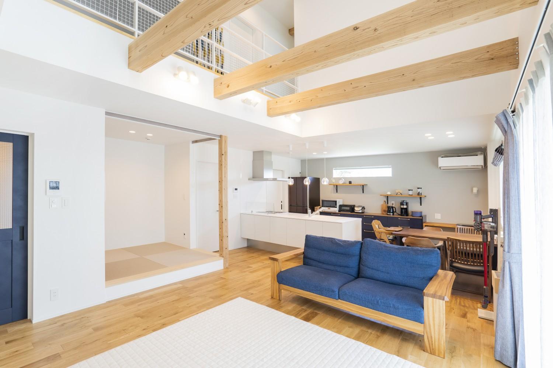 快適動線。回遊性のある四角いお家、注文住宅Simple Box02