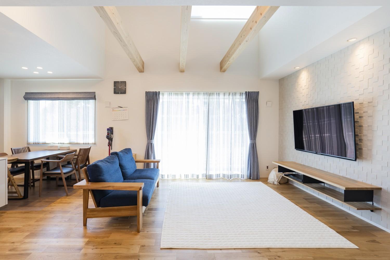 快適動線。回遊性のある四角いお家、注文住宅Simple Box11