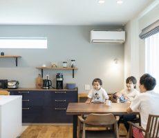 快適導線。回遊性のある四角いお家、注文住宅Simple Box