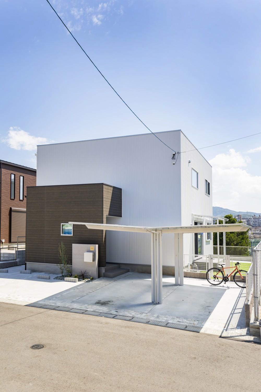 快適動線。回遊性のある四角いお家、注文住宅Simple Box01