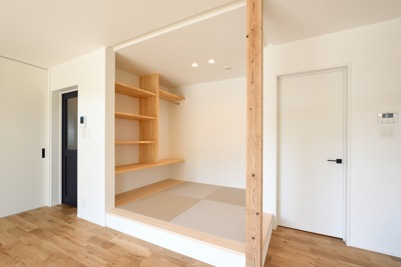 快適動線。回遊性のある四角いお家、注文住宅Simple Box03