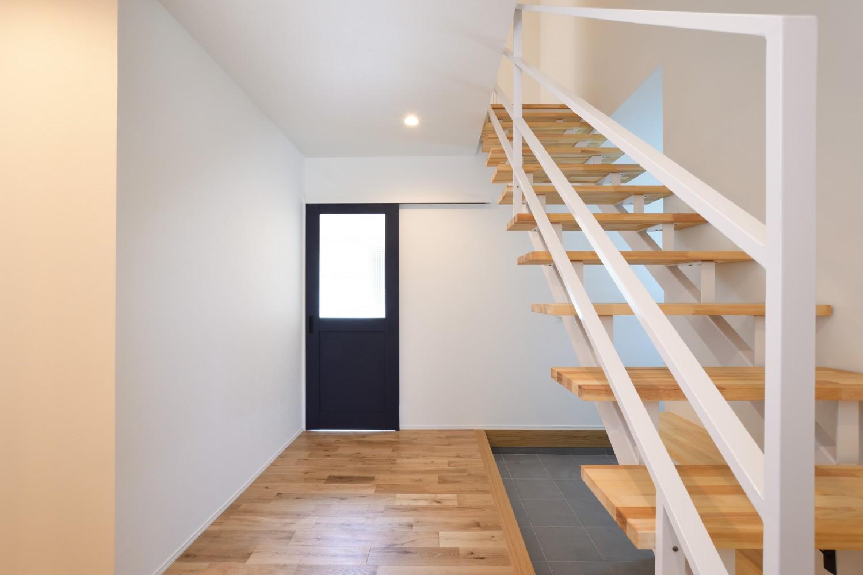 快適動線。回遊性のある四角いお家、注文住宅Simple Box12
