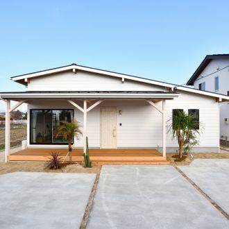 福岡県久留米市注文住宅会社ホームラボ MONICA外観施工事例画像