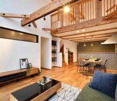 福岡久留米注文住宅のリビング施工事例の画像