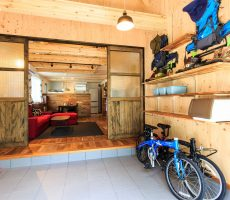 福岡県久留米市の注文住宅会社ホームラボの土間リビング施工事例画像