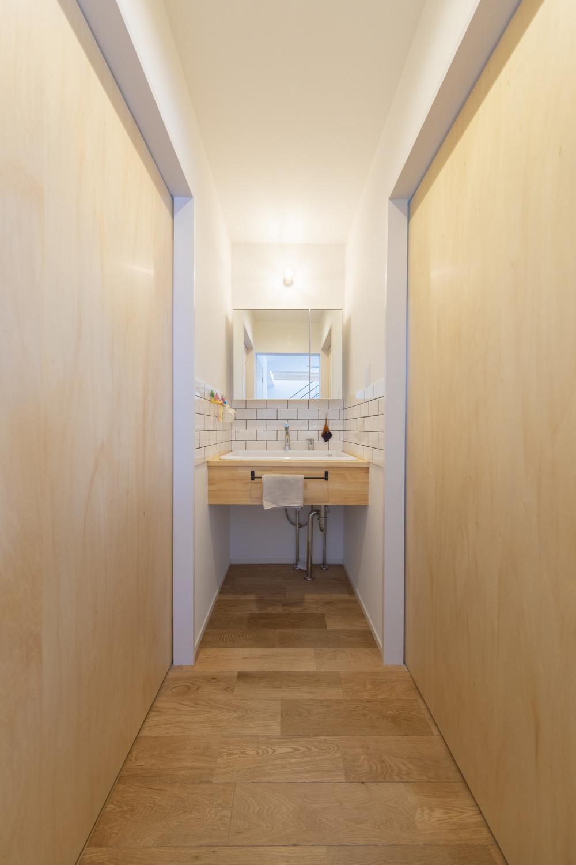 福岡久留米注文住宅ホームラボの洗面化粧台施工事例の画像