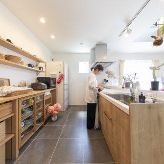 福岡久留米注文住宅ホームラボのキッチン施工事例の画像