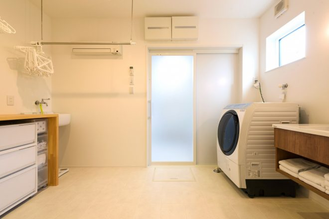 福岡久留米注文住宅会社ホームラボ洗面の施工事例画像