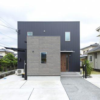 福岡久留米注文住宅ホームラボBOXシリーズ外観施工事例画像