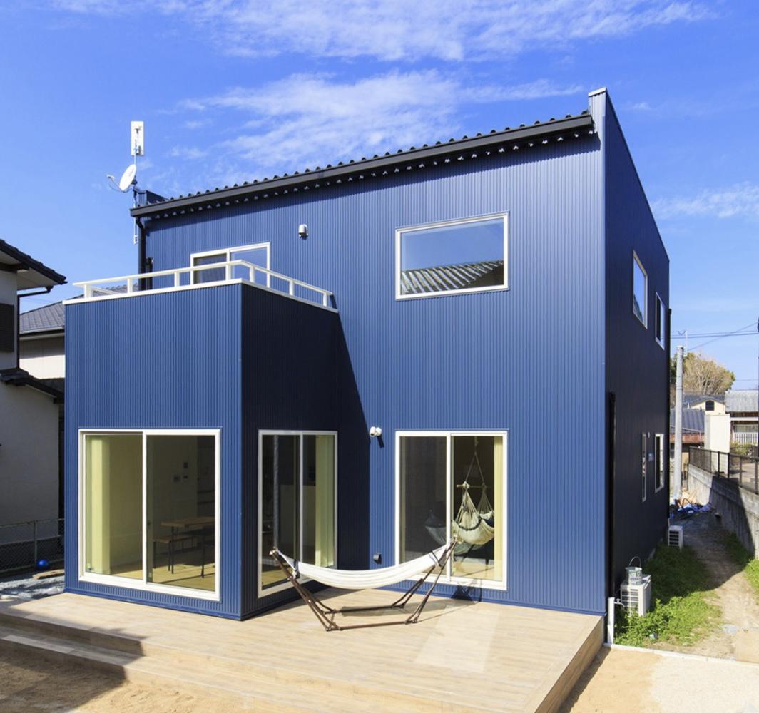西海岸スタイルの四角いお家、注文住宅Simple Box01